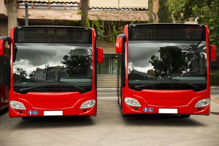 bus tour: New modern city bus Stock Photo