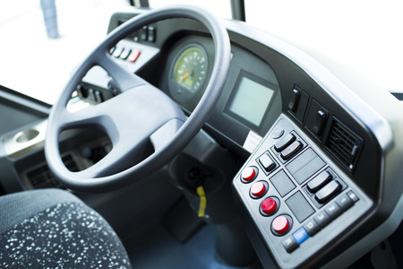Detail of coach bus cabin Standard-Bild