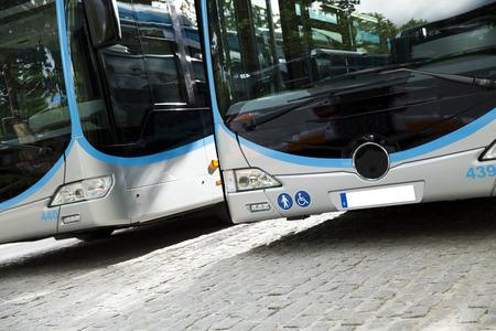 New modern city bus Standard-Bild