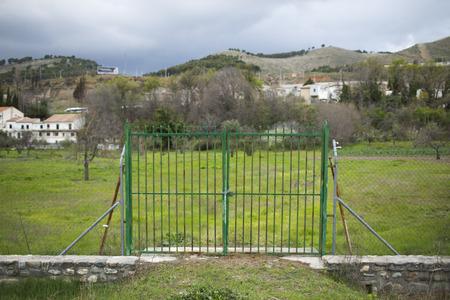 Door on field. photo
