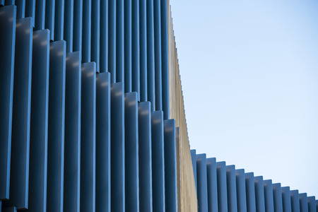 Office buildings with modern corporate architecture - business and success concept, blue sky, windows Stock Photo