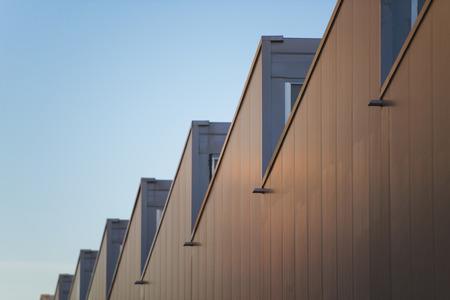Industrial roof Standard-Bild
