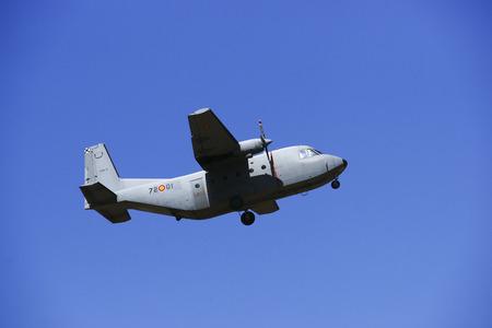 2011 in Granada, GRANADA, spain, SPAIN - JUNE 19: Aerobatic Spanish patrol (Eagle Patrol) perform at an airshow (Open day of the airbase Armilla) on June 19
