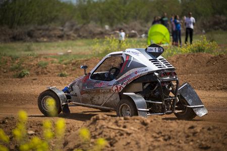 chaparral: GRANADA, SPAIN - MARCH 29: II Autocross championship El Chaparral, March 29, 2015 Granada, Spain.