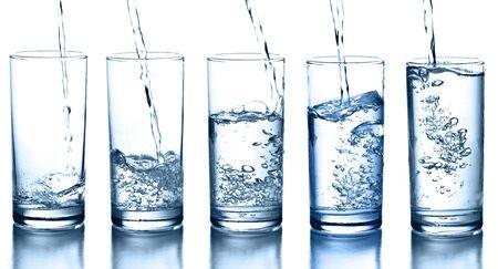 transparentes Glas Spritzwasser