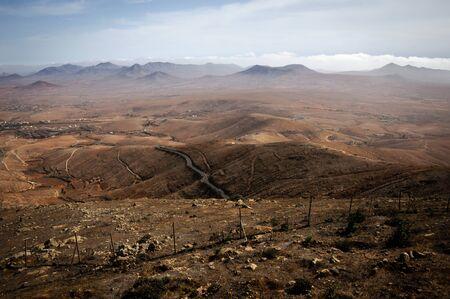 Volcanic landscape of Fuerteventura (Canary Islands - Spain) Stock fotó