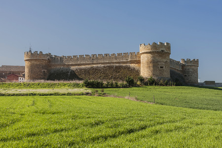 designates: Castle of Grajal de Campos. Military construction of the XVI, Spain Editorial