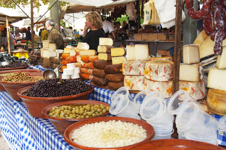 typical: typical products in mallorca market Editorial