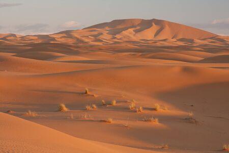 Dunas de Erg Chebbi, Marruecos Foto de archivo
