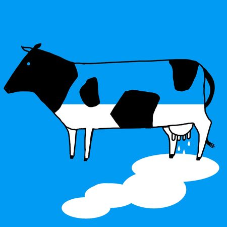 hurl: cow that spills milk from its udder