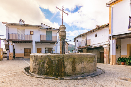 Guadalupe Square near the Jewish quarter. Example of typical constructions of southern Spain