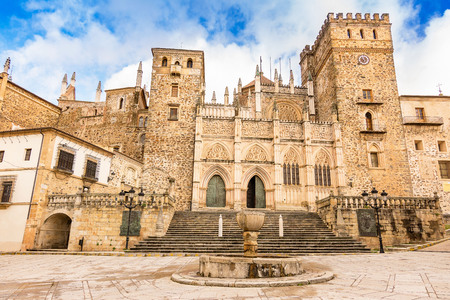The Monastery of Guadalupe is one of the main tourist places of the region of Extremadura in Spain Stok Fotoğraf
