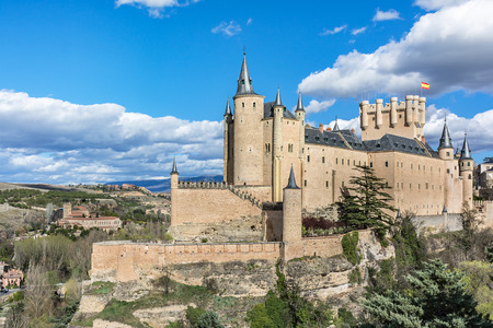 The great Alcazar of Segovia, one of the places of greatest interest in Spain. Historic building that has suffered multiple reforms Stock Photo