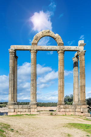 Roman ruins of Augustobriga is one of the fundamental tourist places of the region of Extremadura in Spain