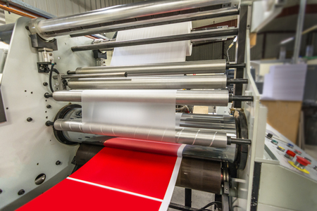Matte or gloss plasticized machine in a printing press for a perfect finish of printed documents. Ideal for an impressive finish