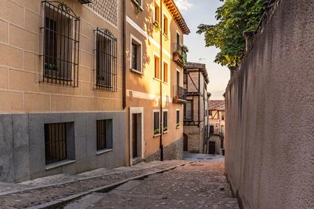 The historical Jewish neighborhood of Segovia (Castilla y Leon, Spain)