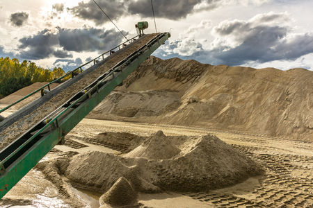 Extraction, treatment and sale of all types of natural and artificial sand