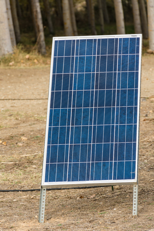 Easy installation solar panel for camping or to have electric power in a place of reduced dimensions
