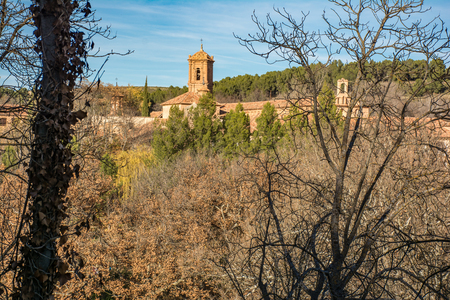The Stone Monastery in the province of Zaragoza is built in the transition from the Romanesque to the Cistercian Gothic (Spain)