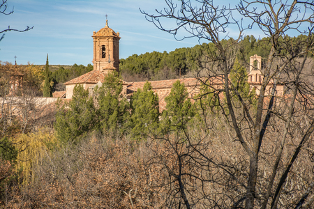 The Stone Monastery in the province of Zaragoza is built in the transition from the Romanesque to the Cistercian Gothic (Spain) Banque d'images