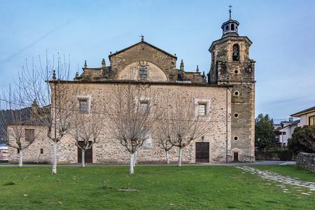 The collegiate church of Santa María del Cluniaco, Coruniego or Cruñego located in the town of Villafranca del Bierzo, in the region of El Bierzo (province of Leon, Castilla y León, Spain)