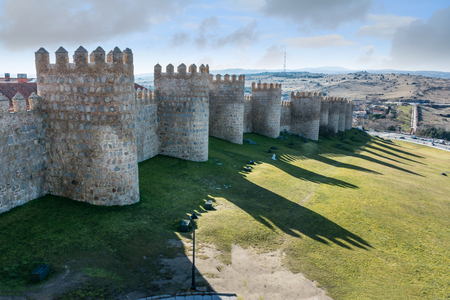 Avila (Castile and Leon, Spain): the famous medieval walls that surround the city.