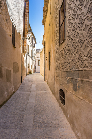 Streets of the historic center of Segovia in Spain