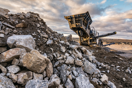Machinery to transform the stone into gravel to build roads