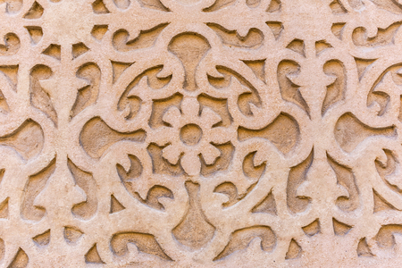 Traditional decorative pattern of the facades of the houses in the historic Jewish quarter of Segovia. Also called sgraffito (Spain)