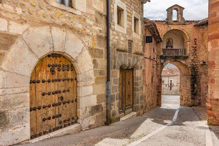 Medieval streets of Siguenza in the province of Guadalajara (Castilla la Mancha, Spain)