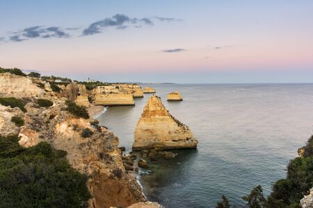 Marinha beach is one of the most emblematic and famous beaches in Portugal, located on the Atlantic coast in the municipality of Lagoa, Algarve Stock fotó