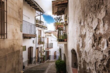 Streets of Guadalupe in Cáceres (Extremadura, Spain) 写真素材
