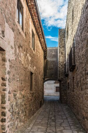 Streets and houses of the medieval village of Medinaceli in the province of Soria (Spain)