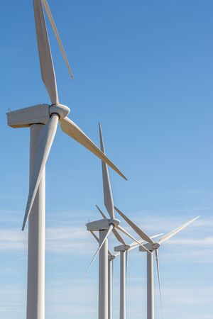 Windmill park in Spain, modern and clean energy