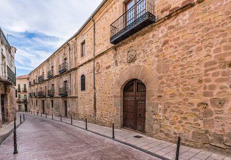 Medieval streets of Siguenza in the province of Guadalajara (Castilla la Mancha, Spain) 写真素材