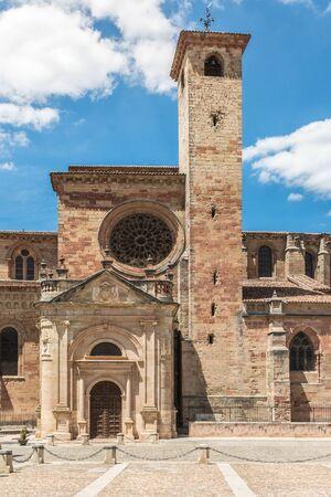 The Cathedral of Santa Maria in Siguenza in the province of Guadalajara (Castilla la Mancha, Spain)
