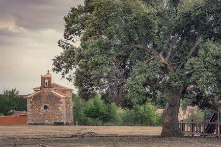 Hermitage of Saldaña de Ayllón in the province of Segovia in Castilla y León (Spain)