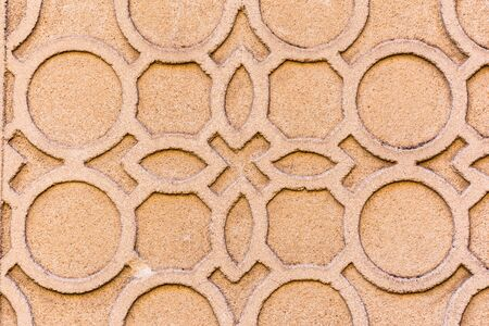 Traditional decorative pattern of the facades of the houses in the historic Jewish quarter of Segovia. Also called sgraffito (Spain) 写真素材