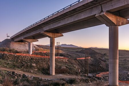 Construction of a bridge on a highway