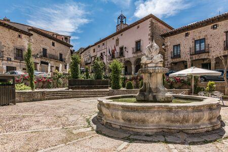 Main square of Atienza and town hall in Guadalajara (Castilla La Mancha, Spain)
