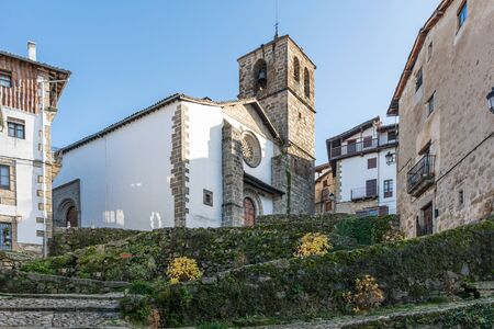 Church of the Assumption in Candelario in the province of Salamanca, the date of construction is the fourteenth century (Spain)