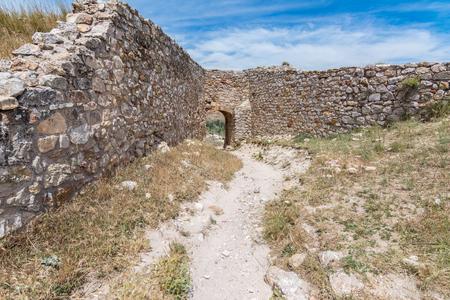 Atienza Castle. The castle is on a rocky mountain. (Province of Guadalajara, Spain)