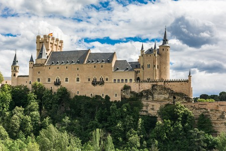Alcazar of Segovia. One of the most famous castles in Europe (Spain) 報道画像