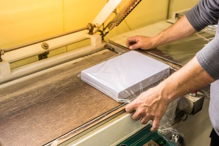 Packing paper with plastic machine