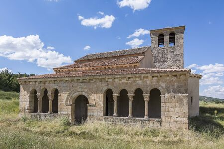 Church of Our Lady of Las Vegas in the province of Segovia in Requijada, example of the Romanesque of Spain Standard-Bild