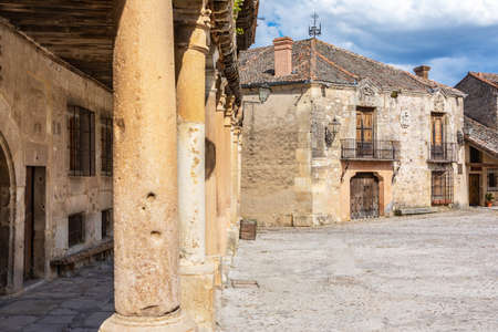 Square of the medieval town of Pedraza in the province of Segovia (Spain)