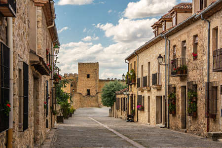 Streets of the medieval town of Pedraza in the province of Segovia (Spain)