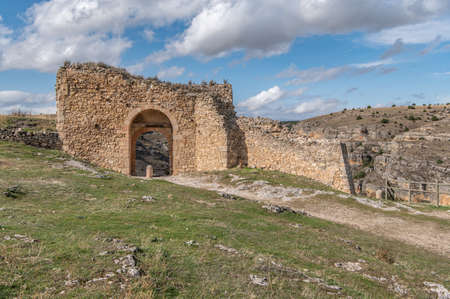 Ancient ruins of the medieval wall gate of Sepúlveda in the province of Segovia (Spain) Editorial