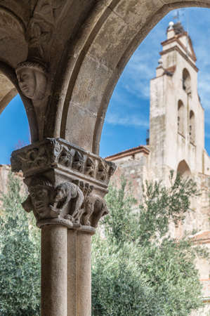 Cloister of the Monastery of Our lady Soterraña in Santa Maria la Real de Nieva in the province of Segovia (Spain)
