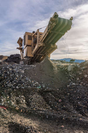 Construction waste recycling plant for transformation Stock fotó